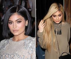 hairstyle makeovers before and after kylie jenner s long blonde hair makeover after short bob
