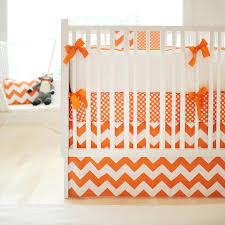 grey and orange crib bedding design ideas