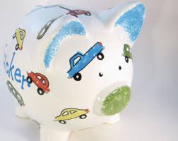 Customized Piggy Bank Car Piggy Bank Etsy