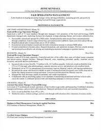 F B Manager Resume Sample beverage sales resume
