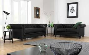 Chesterfield Sofa Suite Hton Leather Chesterfield Sofa Suite 3 2 Seater Black Only