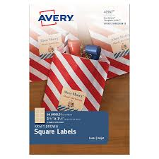 Avery 60 Labels Per Sheet Template Amazon Com Avery Kraft Brown Square Labels 1 1 2 X 1 1 2 Inches