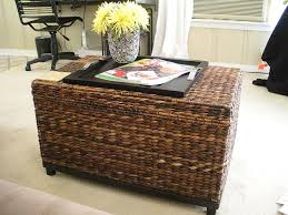 Wicker Trunk Coffee Table Teak Square Vintage Wicker Trunk Coffee Table Designs For Living