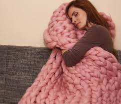 compare prices on super chunky knit wool blanket online shopping