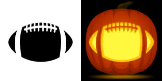 football pumpkin carving stencil free pdf pattern to download and