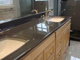Black Onyx Countertops Bathroom Design And Decoration Using Soft Turquoise Bathroom Wall