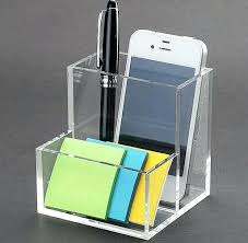 Acrylic Desk Organizers Smoke Grey A4 Size 2 Drawer Acrylic Line Etched Letter Tray Box