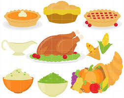 Thanksgiving Feast Clip Feast Clipart Thanksgiving Meal Pencil And In Color Feast