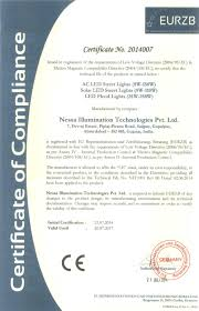 Solar Street Light Technical Specifications by Nessa Iso Certificate Of Led Street Light Product Manufacturers In