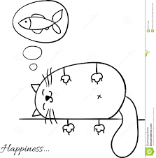 funny cartoon sketch cat background royalty free stock image
