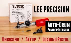 lee auto drum powder measure from unboxing to loading pistol