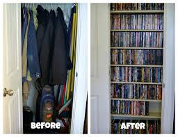 coat closet to media closet organize and decorate everything