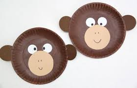 Paper Plate Monkey Craft - curious george inspired paper plate monkey craft smashed peas