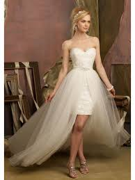 wedding dresses high front back sweetheart neck one in two wedding dresses high