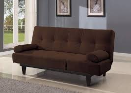 brown microfiber sofa bed adjustable microfiber sofa bed with two arm pillows brown