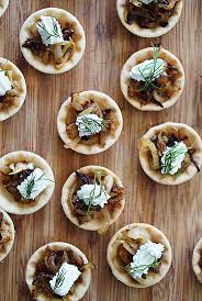 canapes for caramelised goat s cheese tartlets canapés for