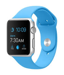 apple watch light blue apple watch silver aluminum case with blue sports band viewtry