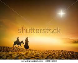 silhouette joseph journey through desert with a on