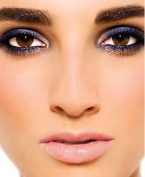 makeup navy blue dress navy blue smokey eyes