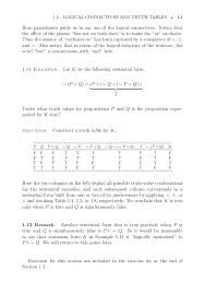What Is A Truth Table Introduction To Mathematical Structures And Proofs