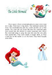 english teaching worksheets mermaid