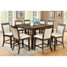 Pub Dining Room Tables Steve Silver Crosspointe 9 Piece Counter Height Dining Table Set