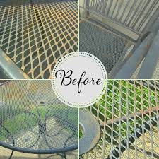 Wrought Iron Patio Tables How To Refinish Wrought Iron Patio Furniture So Much To Make