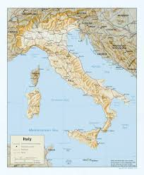 Italy Map Cities by Large Scale Political Map Of Italy With Relief Roads Railroads