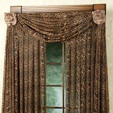 leopard stripe scarf valance 59 x 216 touch of class
