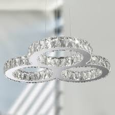 Galaxy Chandelier Galaxy 20 Led Light Chrome Finish And Clear Ring