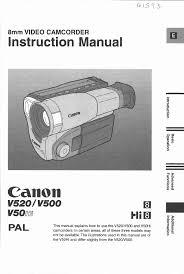 canon camcorder v50 user guide manualsonline com