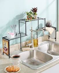 sink racks kitchen accessories over the sink rack coffee kitchen decor shelf space saver fit tall