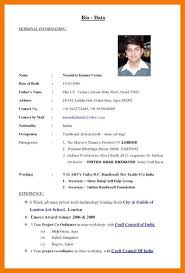 what is a biodata form biodata resume sample download the 25 best biodata format