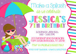free birthday invitation card pool party invitation wording template markit2d mckenna u0027s