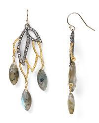 gunmetal chandelier earrings alexis bittar elements labradorite lacy leaf chandelier earrings