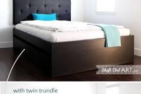 lofted raised malm storage bed converts to 18