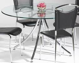 glass top w lazy susan u0026 metal legs modern 5pc dining set