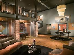 Loft Modern by Modern Living Room With Hardwood Floors U0026 High Ceiling Zillow