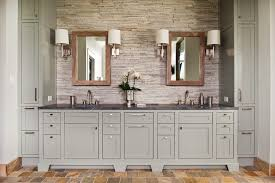 restoration hardware paint with gray cabinets bathroom rustic and