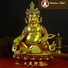 2017 002y tibetan buddhist yellow jambhala brass gold plated