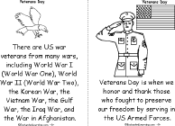 veterans day book a printable book enchantedlearning com