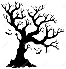 silhouette halloween tree with bats royalty free cliparts vectors