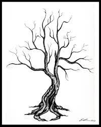 dead tree drawing pencil art drawing