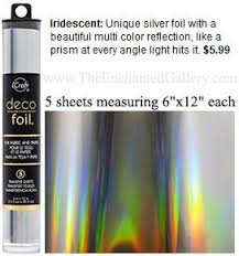 deco foil deco foil is a metallic transfer used on sticky glue or