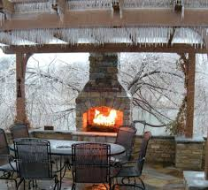 outdoor fireplace ideas with brick kitchen deck covered on a