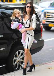 bethenny frankel turns heads in skintight bandage dress and high