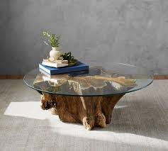 glass for coffee table driftwood base glass coffee table