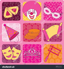 purim cards purim icons graphic design elements cards stock vector 20380663