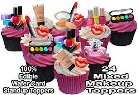 makeup cake toppers edible cake decorations makeup bjaydev for