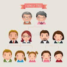family tree stock vector illustration of child diagram 57810800